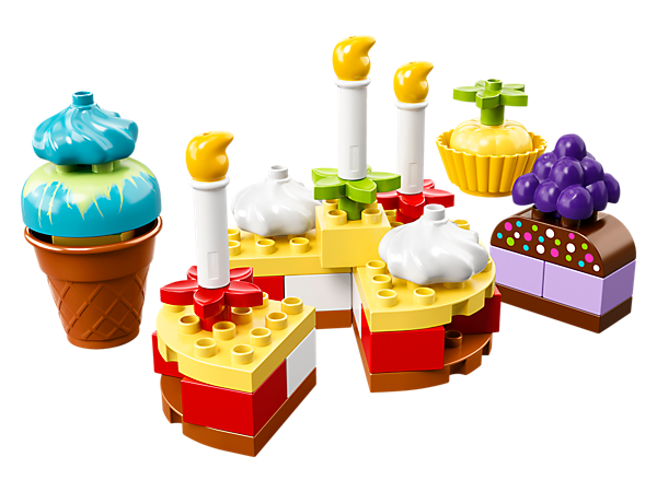 Have fun with your toddler building all kinds of cakes to share and celebrate with friends, creating endless role-play stories and developing fine motor skills as you play.