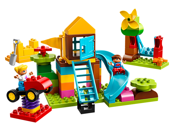 Preschool children will love to build and create amazing adventure playgrounds using these fun LEGO® DUPLO® bricks, including a spinning windmill, swing, slide and a bouncy car ride.