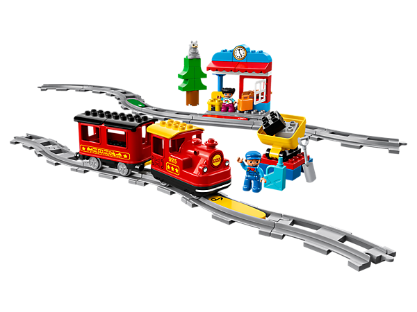 Enjoy all the fun of a LEGO® DUPLO® train with an easy Push & Go motor, action bricks to give the train instructions, plus a station, coal tipper, 2 DUPLO figures and an animal figure.