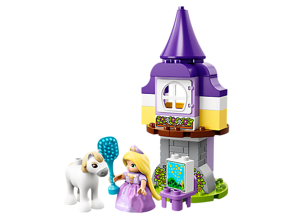 Help your child recreate scenes from Disney Tangled or create new stories of their own with LEGO® DUPLO® Rapunzel's Tower… then rebuild the model into something new!