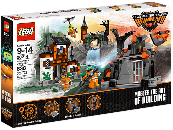 LEGO® Master Builder Academy is a series of 5 sets that teach techniques to design and build your own creations using the skills of LEGO Master Builders!