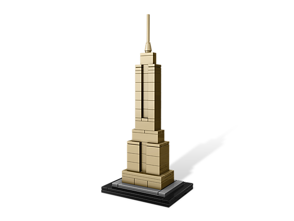 Construct an architectural landmark with this real-world replica of the Empire State Building, includes booklet with design and history.