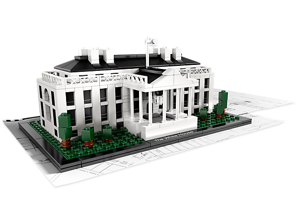 Build an architectural replica of the majestic 6-story White House, includes booklet with facts on its building, construction and history.