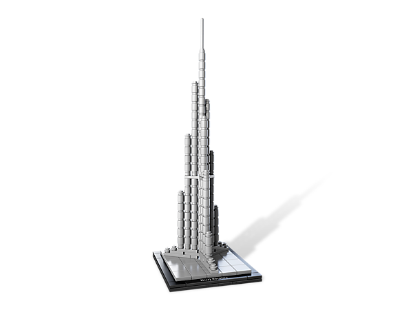 Create architectural history with this real-world replica of Dubai's Burj Khalifa, the tallest structure ever built by man!