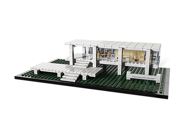 Construct an architectural landmark with this real-world replica of the Farnsworth House™, Ludwig Mies van der Rohe's modern masterpiece!