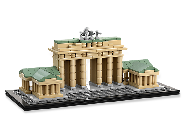 Create an historical monument with this real-world architectural replica of the Berlin's famous Brandenburg Gate.
