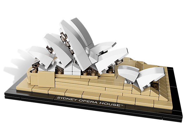 Build a famous destination from the land down under with a 260-piece recreation of the Sydney Opera House™ made entirely of LEGO® bricks!