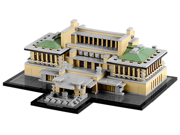 Build the famous Frank Lloyd Wright hotel of Tokyo Japan, a 250-room modern masterpiece in LEGO® microscale!