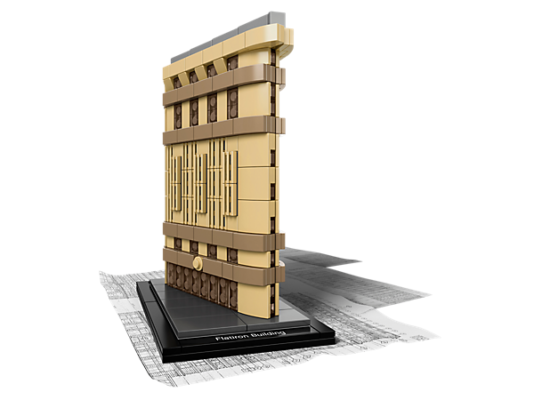Create the Flatiron Building – a LEGO® Architecture Landmark Series version of the Renaissance-style, wedge-shaped New York skyscraper.