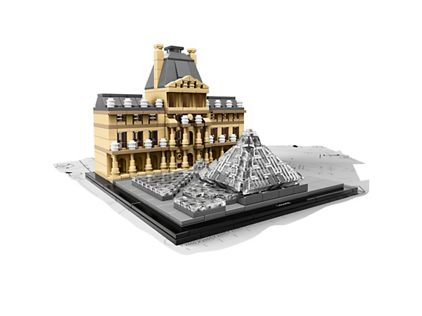 Recreate the magnificent Louvre with this detailed LEGO® set, featuring the Pavillon de l'Horloge and I.M. Pei's iconic Pyramide du Louvre.