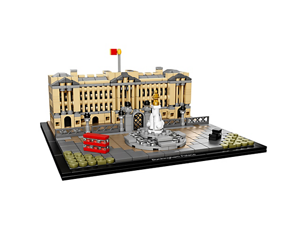 Experience Buckingham Palace with this detailed LEGO® Architecture interpretation of London's iconic royal residence, complete with the Victoria Memorial, bus and a taxi.