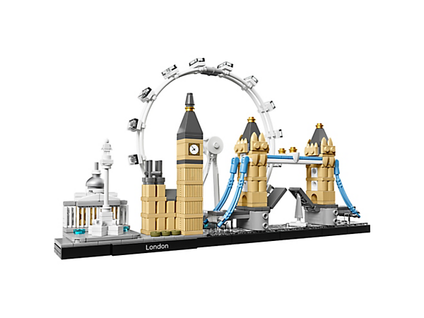 Bring together the National Gallery, Nelson's Column, London Eye, Big Ben (the Elizabeth Tower) and Tower Bridge, with this London skyline model.