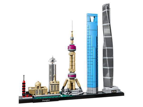 Bring together the Chenghuang Miao Temple, Longhua Temple and Pagoda, Radisson Blu Hotel, Bund area, Oriental Pearl, World Financial Center and the Shanghai Tower, with this Shanghai skyline model.