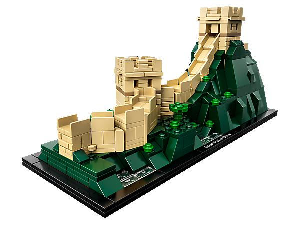 Udforsk de arkitektoniske hemmeligheder bag den kinesiske mur med denne imponerende LEGO® Architecture model, der indeholder en snoet del af muren med 2 tårne over et frodigt bjerglandskab.