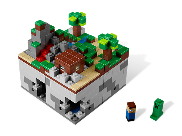 Build a Minecraft microworld with 2 Micromob characters, in a model selected by LEGO® CUUSOO members!