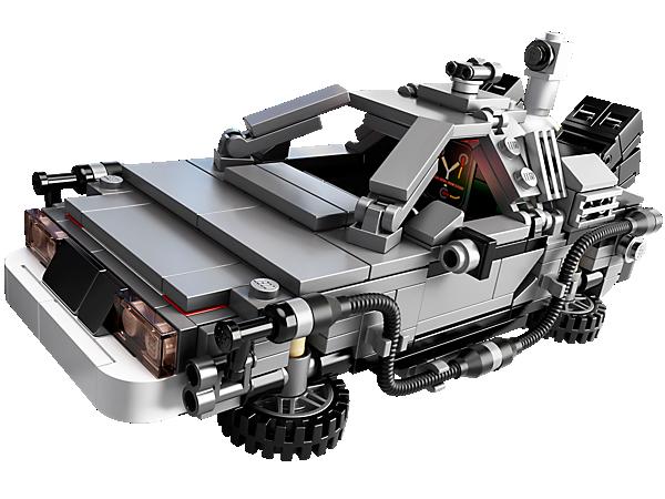 Voyage comme dans Retour vers le futur avec la machine à remonter le temps DeLorean équipée de roues qui se replient, d'un convecteur temporel et plus de choses encore, choisie par les membres LEGO® CUUSOO !