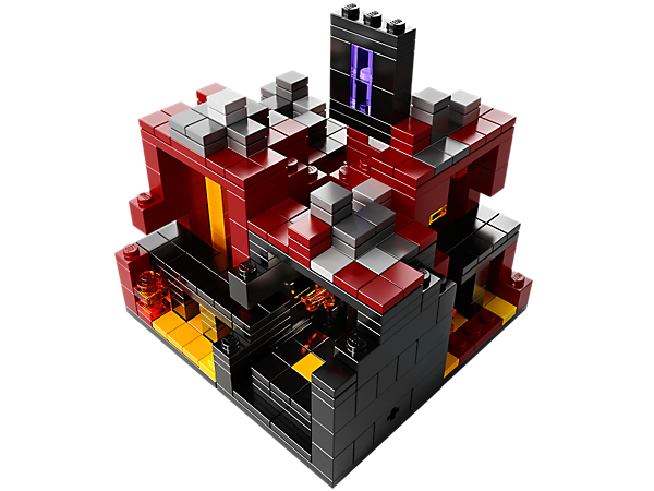 Create The Nether out of LEGO bricks, complete with Netherrock, gravel, and lava and meet new Micromob figures in this dangerous underworld.