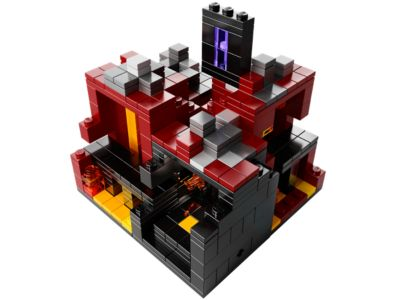 Micro World – The Nether - 21106 | Minecraft™ | LEGO Shop