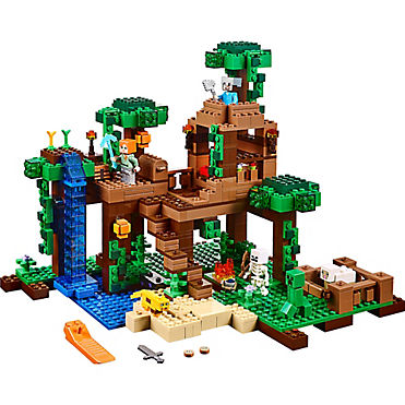 the jungle tree house 21125 minecraft lego shop