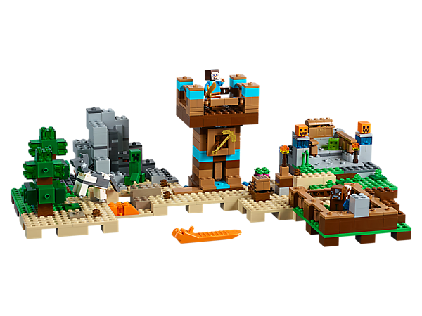 Build, rebuild and customize to create exciting Minecraft™ landscapes with this easy-to-reconfigure, modular set, featuring 5 sets of bricks, each with 3 alternative model configurations.