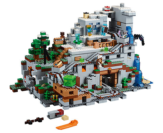 The mountain cave 21137 minecraft lego shop for Lego world craft