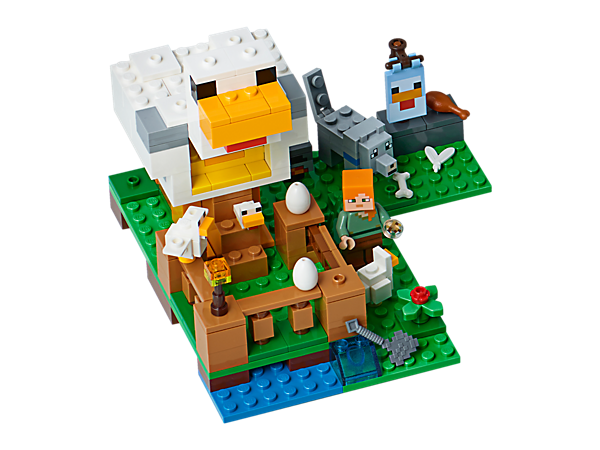 Have fun at the Chicken Coop, featuring an elevated henhouse that delivers eggs directly into a chest.