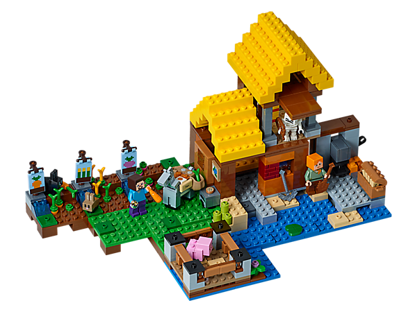 Create your dream Minecraft™ Farm Cottage with this easy-to-reconfigure modular set. Includes Alex and Steve minifigures, plus baby pig, donkey, rabbit, baby rabbit and skeleton figures.