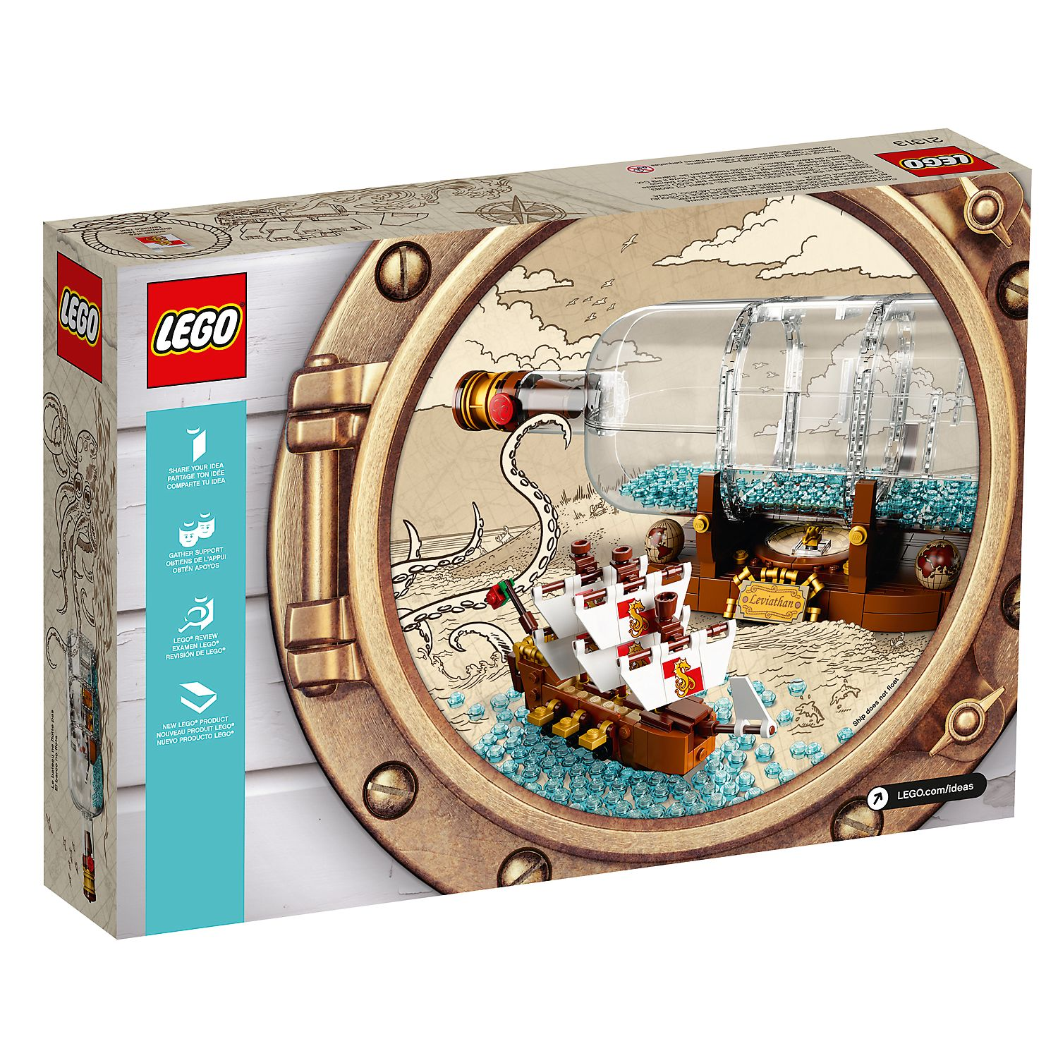 Ship in a Bottle 21313   Ideas   Buy online at the Official LEGO® Shop US
