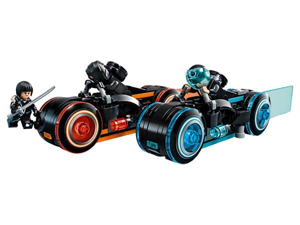 Build Disney's TRON: Legacy with this LEGO® Ideas set, featuring 2 Light Cycles, 3 minifigures and a TRON grid/display base to recreate the movie chase scene and Identity Disc battle.
