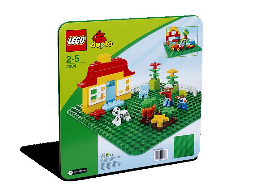 Green LEGO DUPLO Baseplate
