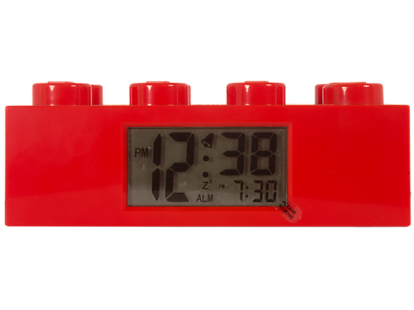 Build fun into each day by waking up with the LEGO® Red Brick Clock, featuring alarm, LCD digital display and snooze!