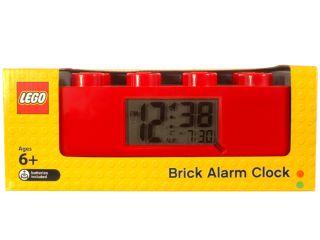Červený budík ve tvaru LEGO® kostky