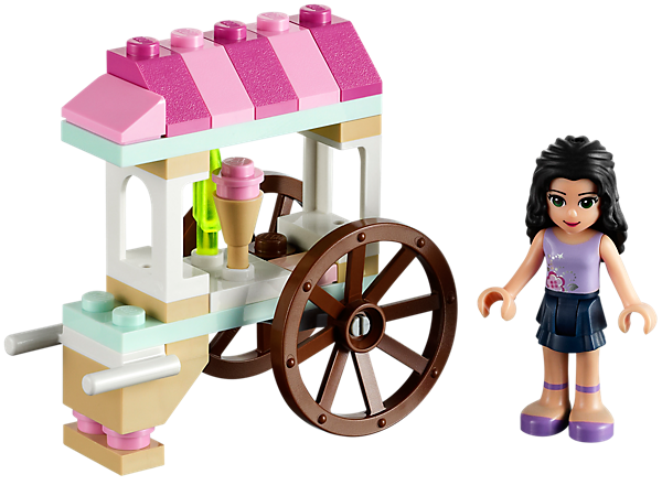 <p>Help Emma to serve up yummy ice cream and ice pops for the LEGO® Friends from her very own ice cream cart!</p>