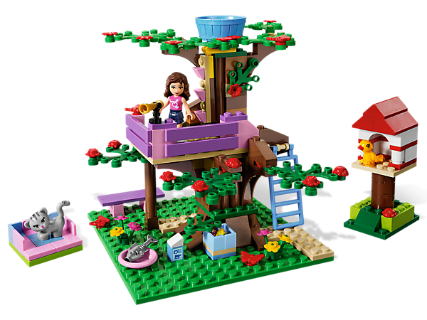 Head to the treetop for sky-high fun in Olivia's Tree House where the LEGO® Friends watch the stars, hide secret treasures and camp out!
