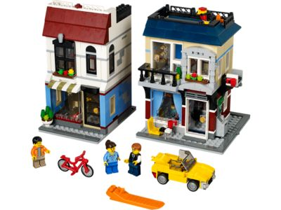 Explore product details and fan reviews for buildable toy Bike Shop & Café 31026 from Creator. Buy today with The Official LEGO® Shop Guarantee.