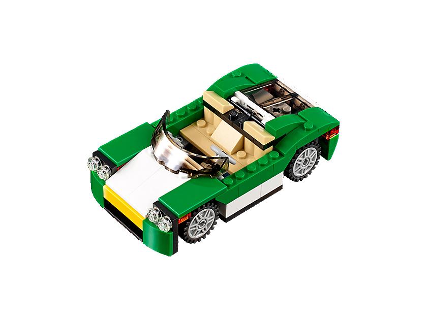 Grünes Cabrio