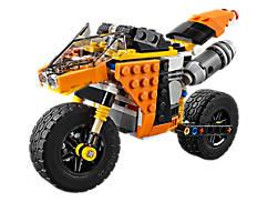 La moto orange
