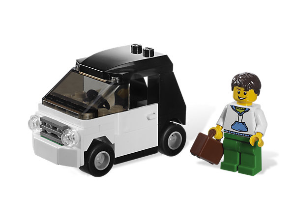 Zip around LEGO® City in this little compact car for a fun day of driving with style and ease!