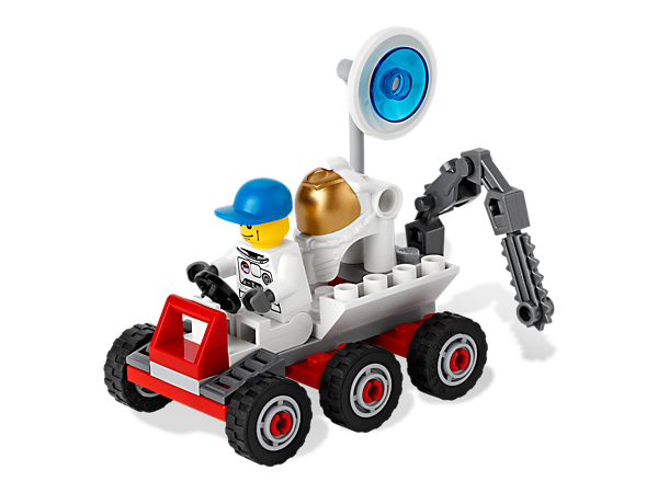 Get ready to rock, rove and explore the lunar landscape with this super 6-wheeler, then report back with the satellite dish!