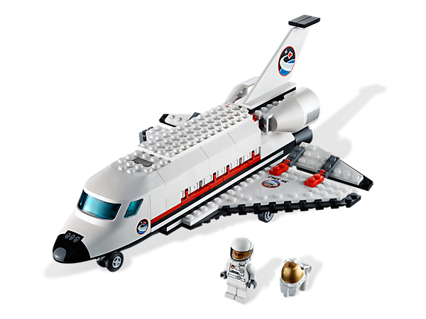 Your mission:  Blast off from LEGO® City and release the satellite into orbit with the Space Shuttle's robotic arm!