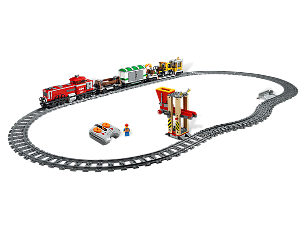 Get the Red Cargo Train ready to roll through LEGO® City with the LEGO Power Functions Remote Control #8879!