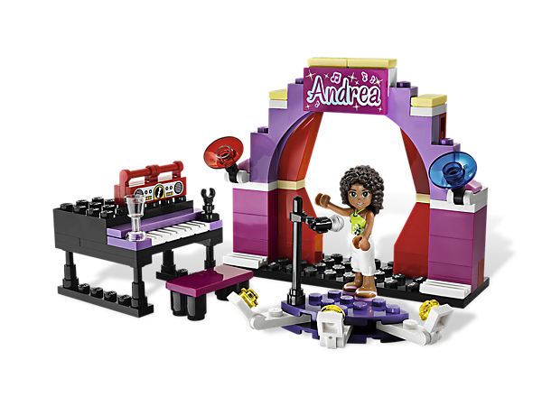 It's time to shine on Andrea's Stage as she puts on a show for all of Heartlake City with the spotlight, piano, boom box and microphone!