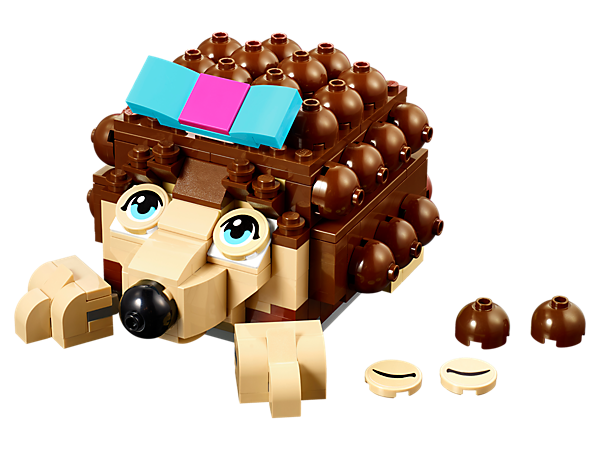 Store all your most important bits and pieces inside this big buildable hedgehog with a beautiful blue and pink bow.