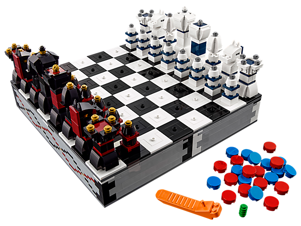 Take and play with this cool, buildable LEGO® chess set wherever you go—once you've built the playing pieces, store them neatly inside the board for easy travel.
