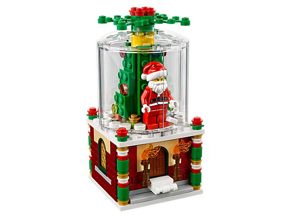Decorate your home with this LEGO® version of the classic snowglobe, featuring a buildable Santa minifigure and Christmas tree, plus a secret drawer.