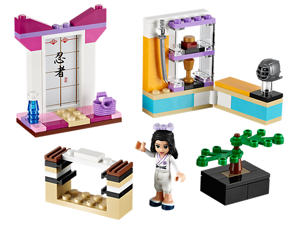 Master martial arts in Emma's Karate Class by chopping blocks and practicing kendo in a tranquil and detailed studio with accessories!