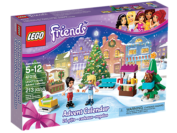 Build LEGO® Friends surprises every day in December as you count down to Christmas with 24 buildable gifts in individual compartments!