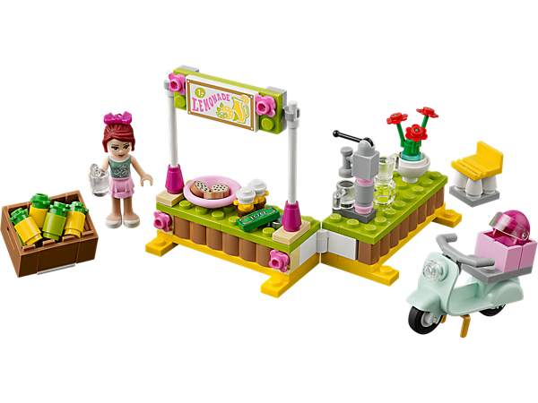 Explore product details and fan reviews for buildable toy Mia's Lemonade Stand 41027 from Friends. Buy today with The Official LEGO® Shop Guarantee.
