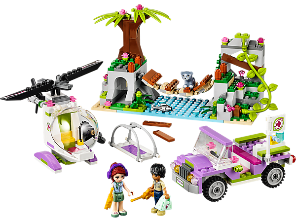 Explore product details and fan reviews for Jungle Bridge Rescue 41036 from Friends. Buy today with The Official LEGO® Shop Guarantee.