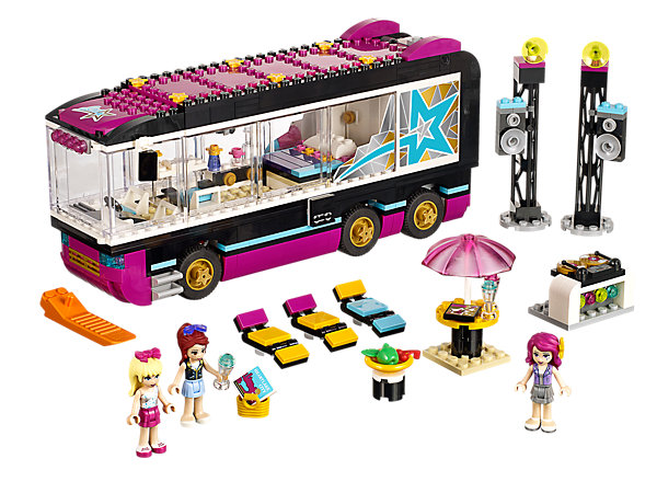 Explore product details and fan reviews for Pop Star Tour Bus 41106 from Friends. Buy today with The Official LEGO® Shop Guarantee.